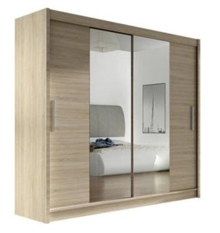 Зеркальные и глухие фасаыды, шкаф